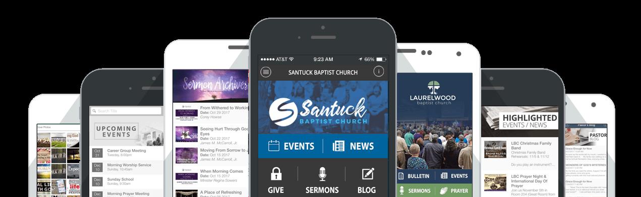 Mobile App - Beautiful Custom Church Websites Design | Live Video